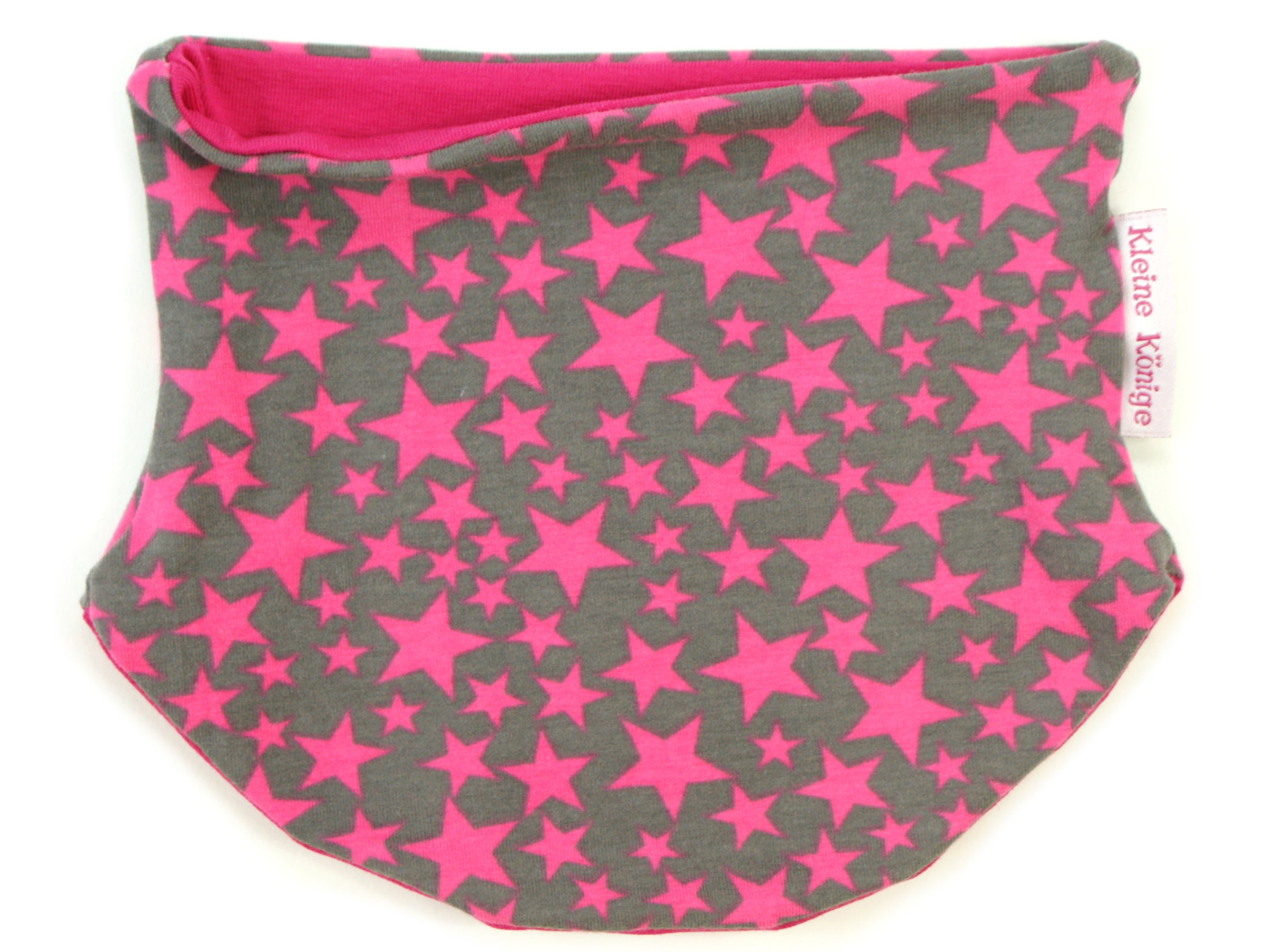 """Babyloop Halssocke Loop """"Sterntaler"""" pink grau"""